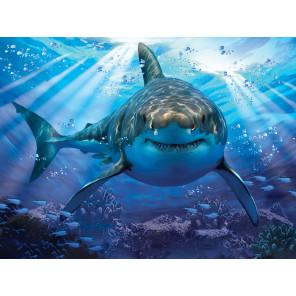 Большая белая акула Super 3D пазлы с эффектом трехмерного объемного изображения 10048