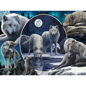 Волки Коллаж Super 3D пазлы с эффектом трехмерного объемного изображения 32525