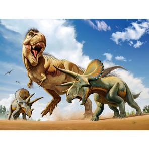 Тираннозавр против трицератопса Super 3D пазлы с эффектом трехмерного объемного изображения 10329