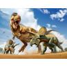 Тираннозавр против трицератопса Super 3D пазлы с эффектом трехмерного объемного изображения
