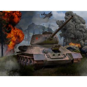 Танк Т-34 Super 3D пазлы с эффектом трехмерного объемного изображения 10177