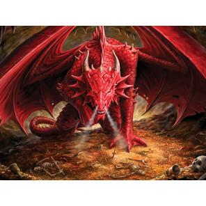 Внешний вид коробки Драконье логово Super 3D пазлы с эффектом трехмерного объемного изображения 10317