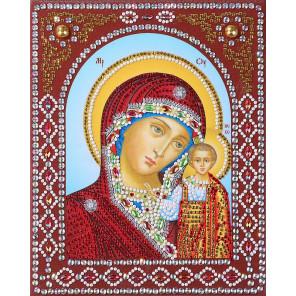 Казанская Божия Матерь Алмазная картина фигурными стразами IF010