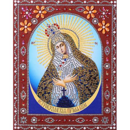 Остробрамская Пресвятая Богородица Алмазная картина фигурными стразами IF001