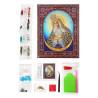 Состав набора Остробрамская Пресвятая Богородица Алмазная картина фигурными стразами IF001