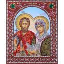 Пётр и Феврония Муромские Алмазная картина фигурными стразами IF002
