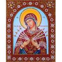 Пресвятая Богородица Семистрельная Алмазная картина фигурными стразами IF003