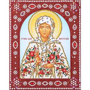 Святая Блаженная Матрона Алмазная картина фигурными стразами IF004