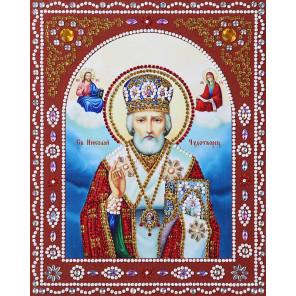 Святой Николай Чудотворец Алмазная картина фигурными стразами IF005