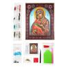 Состав набора Владимирская Божия Матерь Алмазная картина фигурными стразами IF009