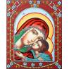 Умиление Пресвятой Богородицы Алмазная картина фигурными стразами