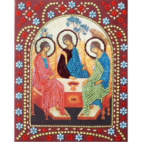 Святая Троица Алмазная картина фигурными стразами IF016