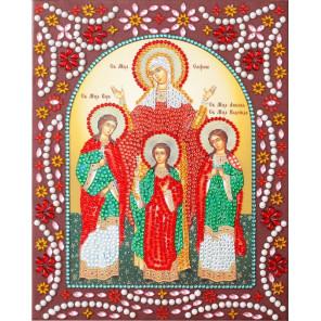 Вера, Надежда, Любовь и Мать их София Алмазная картина фигурными стразами IF018
