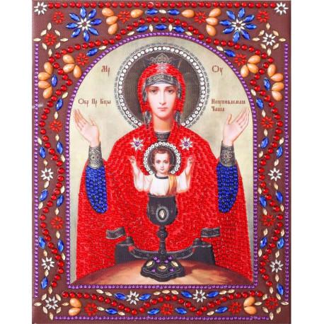 Образ Пресвятой Богородицы Неупиваемая Чаша Алмазная картина фигурными стразами IF019