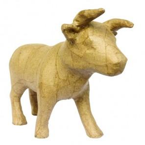 Корова Фигурка маленькая из папье-маше объемная Decopatch