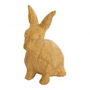 Кролик сидит Фигурка маленькая из папье-маше объемная Decopatch
