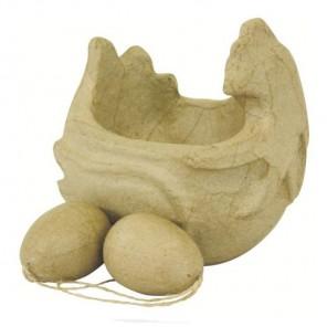 Курочка яйца Фигурка маленькая из папье-маше объемная Decopatch