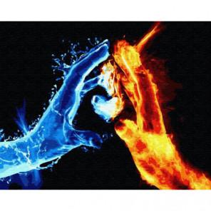 Огонь и лед Раскраска картина по номерам на холсте