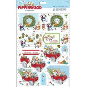 Праздничное веселье Pippinwood Christmas Набор бумаги и высеченных элементов для скрапбукинга, кардмейкинга Docrafts
