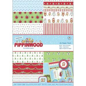Pippinwood Christmas Набор бумаги А5 для скрапбукинга, кардмейкинга Docrafts