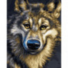 Мультяшный волк Раскраска картина по номерам на холсте