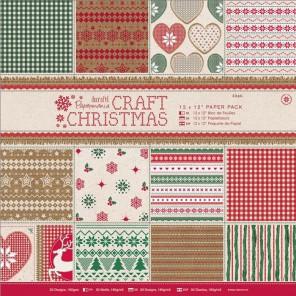 Craft Christmas Набор бумаги 30х30 см для скрапбукинга, кардмейкинга Docrafts