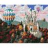 Шары над замком Раскраска картина по номерам на холсте