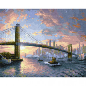 Бруклинский мост Раскраска картина по номерам на холсте