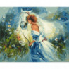 Девушка и лошадь Раскраска картина по номерам на холсте