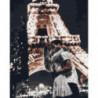Парижский поцелуй Раскраска картина по номерам на холсте