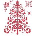 Новогодняя елка Набор прозрачных штампов для скрапбукинга, кардмейкинга Docrafts
