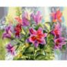 Розовые лилии Раскраска картина по номерам на холсте