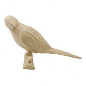 Попугай на ветке Фигурка маленькая из папье-маше объемная Decopatch