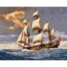 Легендарный парусник Джеймса Кука Раскраска картина по номерам на холсте