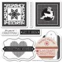 Новогодние ярлычки Набор прозрачных штампов для скрапбукинга, кардмейкинга Docrafts
