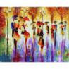 Зонтики Раскраска картина по номерам на холсте