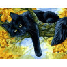 Осенний кот Раскраска картина по номерам на холсте Белоснежка 296-AS