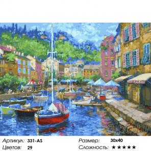 Сложность и количество цветов Итальянская ривьерa Раскраска картина по номерам на холсте Белоснежка 331-AS