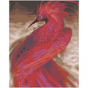 Красная птица Раскраска картина по номерам на холсте