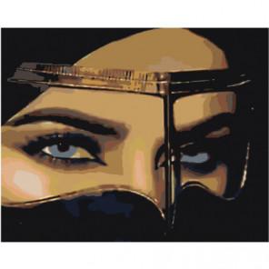 Чарующий женский взгляд 80х100 Раскраска картина по номерам на холсте