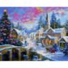 Рождественская зима Алмазная мозаика вышивка Painting Diamond