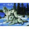 Зимние волки Алмазная мозаика вышивка Painting Diamond