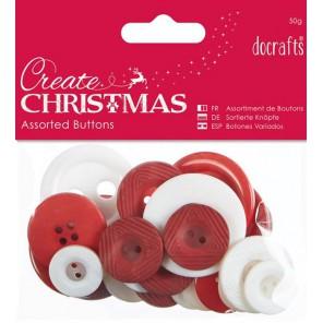 Nordic Christmas Ассорти маленькое Пуговицы Docrafts