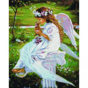 Ангелочек в саду Алмазная мозаика вышивка Painting Diamond