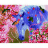 Лошадь в райском саду Алмазная мозаика вышивка Painting Diamond