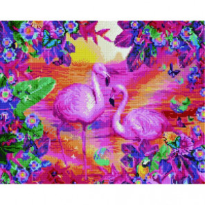 Фламинго на закате Алмазная мозаика вышивка Painting Diamond