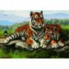 Отдых тигров Алмазная мозаика вышивка Painting Diamond