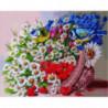 Корзина полевых цветов и пташки Алмазная мозаика вышивка Painting Diamond