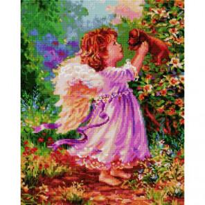 Ангелочек и щенок Алмазная мозаика вышивка Painting Diamond