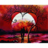 Романтичное дерево на закате Алмазная мозаика вышивка Painting Diamond